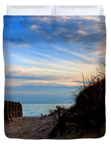 Dunes On The Cape Duvet Cover by Joann Vitali