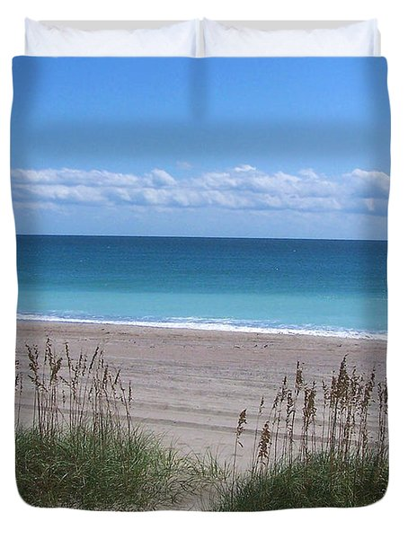 Duvet Cover featuring the photograph Dunes On The Outerbanks by Sandi OReilly