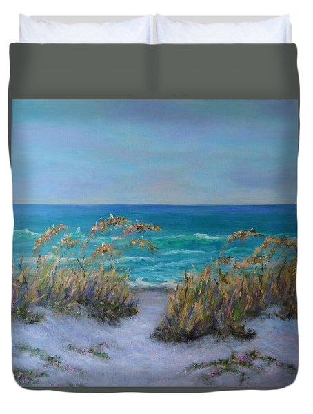Dunes Path Ocean Painting Part 1 Duvet Cover