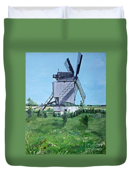 Dunkerque Windmill North Of France Duvet Cover