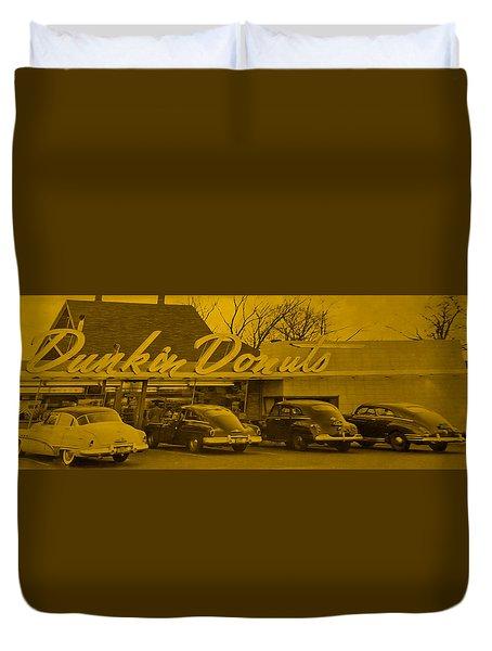 Dunkin Donuts Duvet Cover by Matthew Bamberg