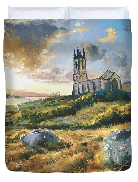 Dunlewy Church Duvet Cover by Conor McGuire