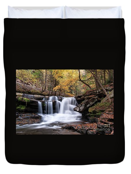 Duvet Cover featuring the photograph Dunloup Falls - D009961 by Daniel Dempster