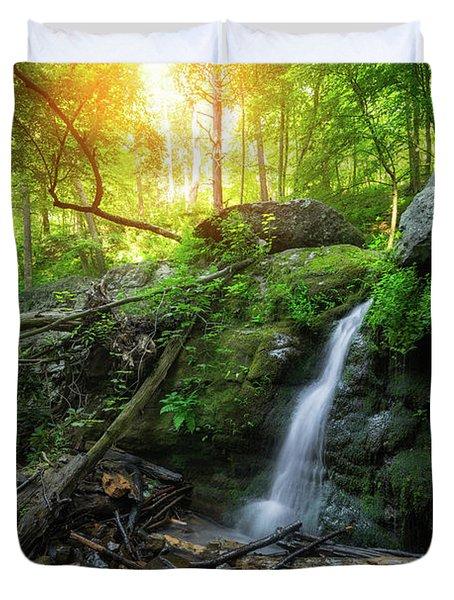 Dunnfield Creek Sunrise  Duvet Cover