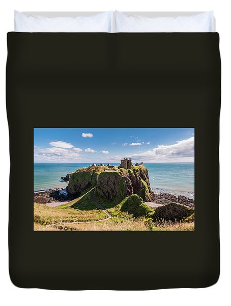 Dunnotar Castle Duvet Cover by Sergey Simanovsky