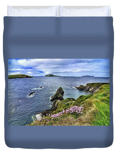 Dunquin Flowers  Duvet Cover