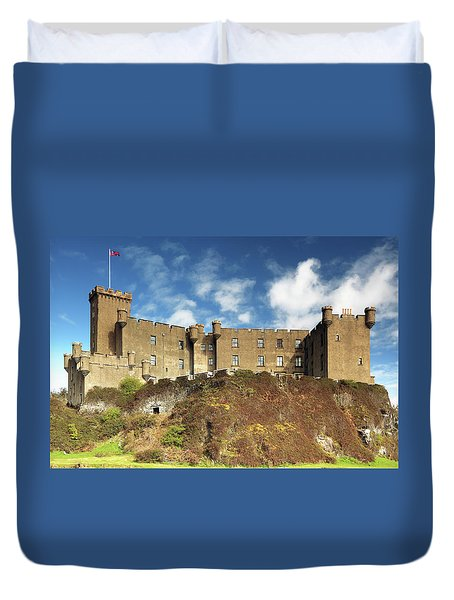 Duvet Cover featuring the photograph Dunvegan Castle by Grant Glendinning