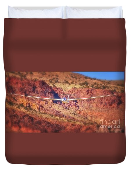Duo Discus Over Red Rocks Duvet Cover