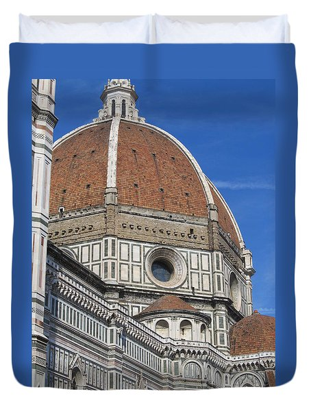 Duomo Cathedral Florence Italy  Duvet Cover by Lisa Boyd