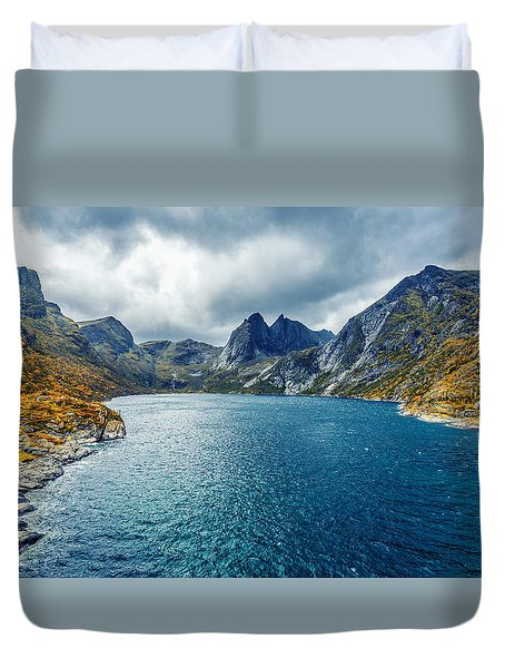 Duvet Cover featuring the photograph Dupfjorden by James Billings