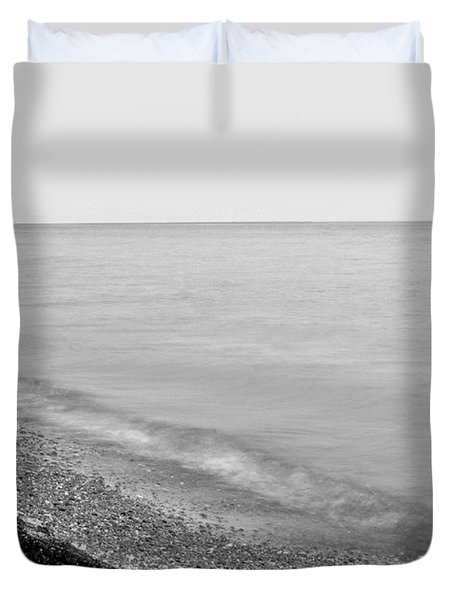 Durand Beach In Bw Duvet Cover