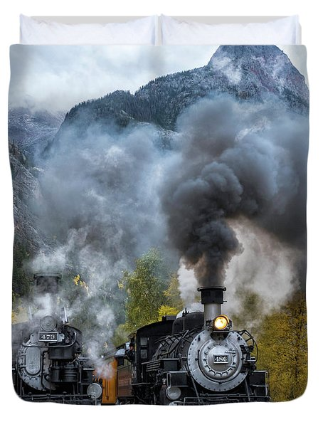 Durango Silverton Train Duvet Cover