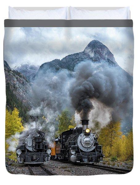 Durango Silverton Train Duvet Cover