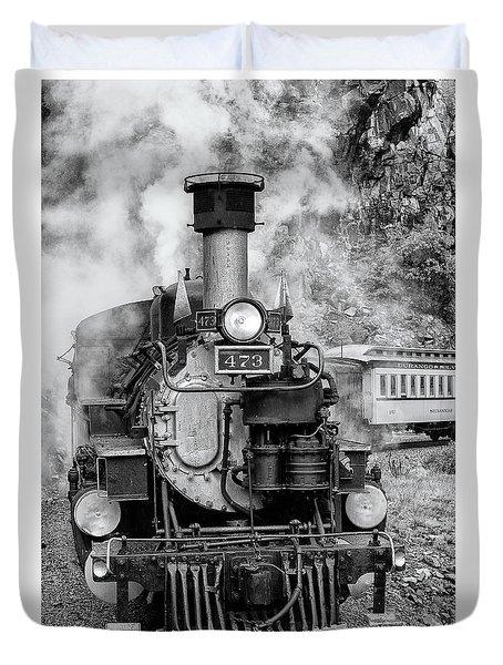 Durango Silverton Train Engine Duvet Cover