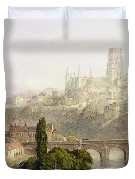 Durham Cathedral Duvet Cover by George Arthur Fripp