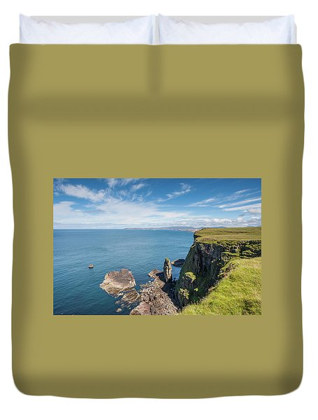 Duvet Cover featuring the photograph Handa Island - Sutherland by Pat Speirs