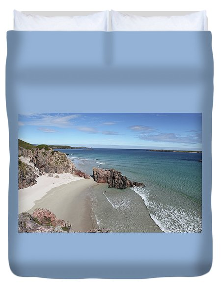 Duvet Cover featuring the photograph Durness - Sutherland by Pat Speirs