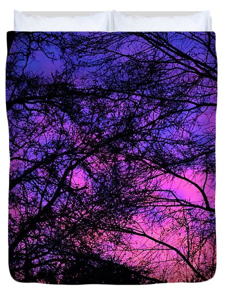 Dusk And Nature Intertwine Duvet Cover