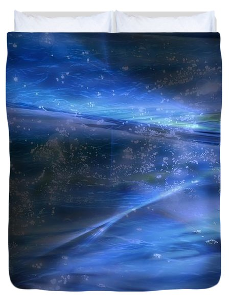 Dusk And Planets Duvet Cover