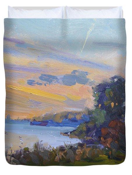 Dusk At Gratwick Park  Duvet Cover