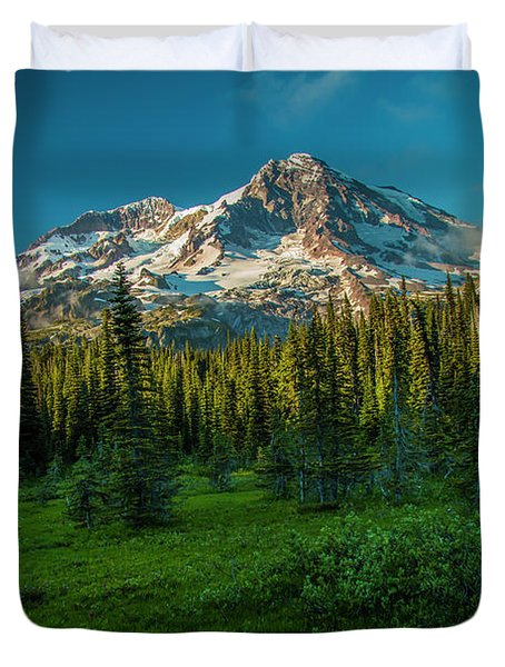 Dusk At Indian Henry Campground Duvet Cover