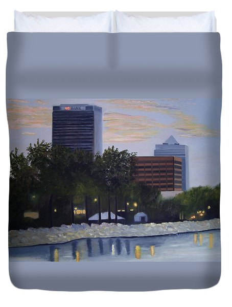Dusk At Irish Fest Duvet Cover