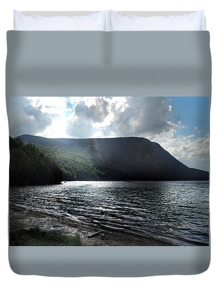 Dusk At Lake Willoughby In Westmore, Vermont Duvet Cover