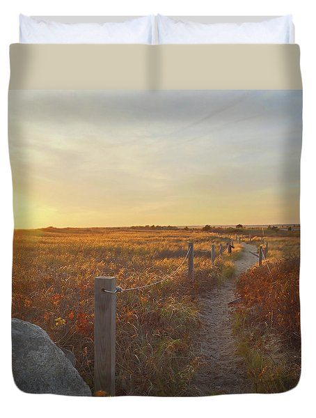 Duvet Cover featuring the photograph Dusk At South Cape Beach by Brooke T Ryan