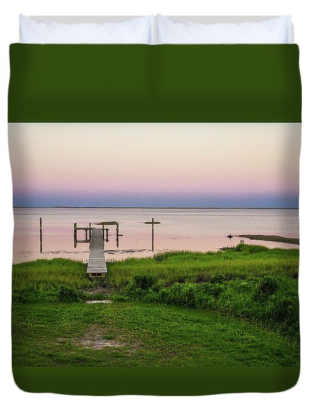 Dusk At Battle Point, Accomac, Virginia Duvet Cover