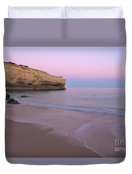 Dusk In Albandeira Beach Duvet Cover
