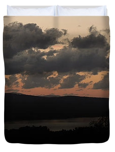Duvet Cover featuring the photograph Dusk by Mim White