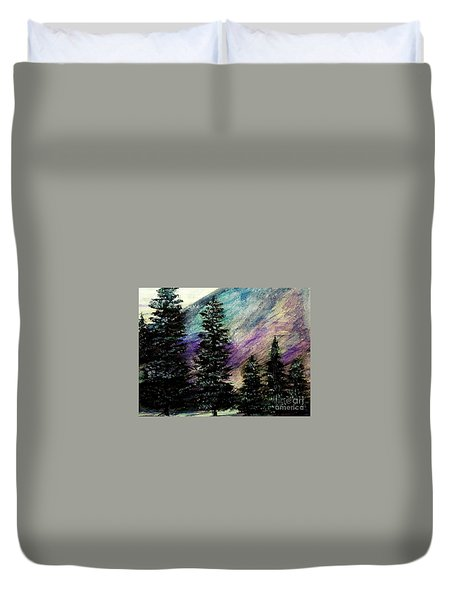 Dusk On Purple Mountain Duvet Cover by Scott D Van Osdol