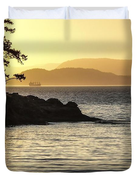Dusk On Sucia Island Duvet Cover