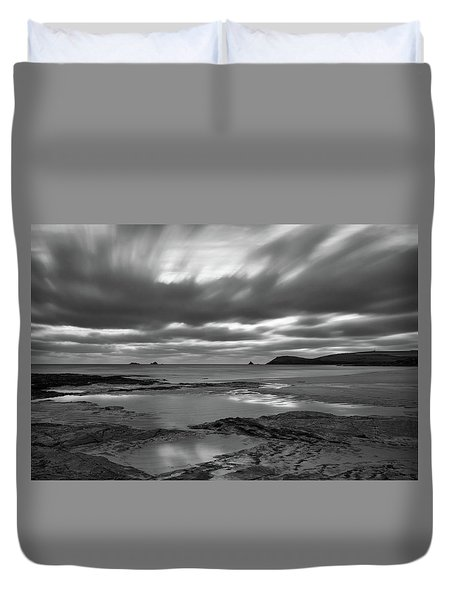Dusk Over Constantine Bay  Duvet Cover