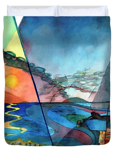 Dusk Over The Chesapeake Duvet Cover