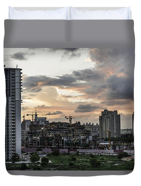 Dusk  Duvet Cover by Rajiv Chopra