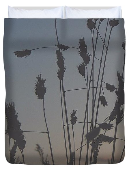 #dusk #sunset #fall #autumn Duvet Cover