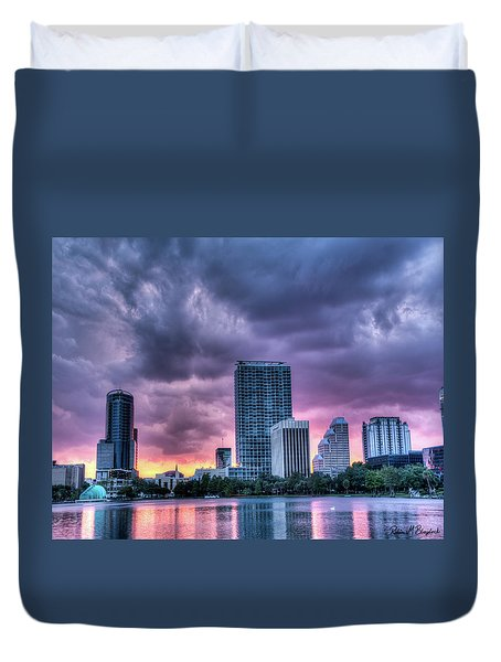 Dusky Downtown Orlando, Florida Duvet Cover