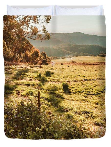 Dusky Fields Duvet Cover
