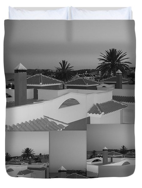 Dusky Rooftops Duvet Cover by Linda Prewer
