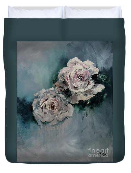 Dusky Roses Duvet Cover