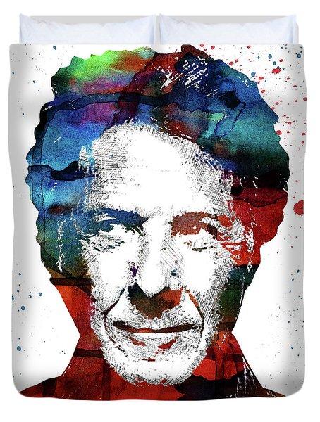Dustin Hoffman Duvet Cover by Mihaela Pater