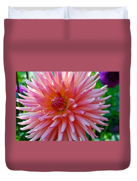 Dusty Rose Dahlia  Duvet Cover