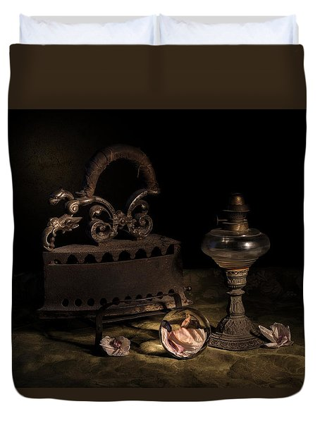Duvet Cover featuring the photograph Dusty Things by Raffaella Lunelli