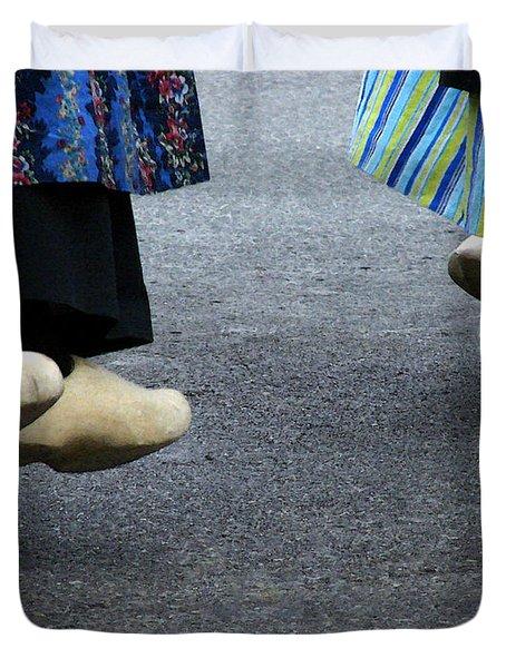 Dutch Dancers In Holland Duvet Cover by Michelle Calkins