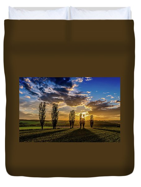 Dutch Moutains At Sunset Duvet Cover