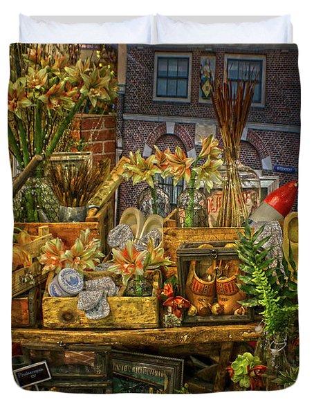 Dutch Shop Duvet Cover by Sandy Moulder