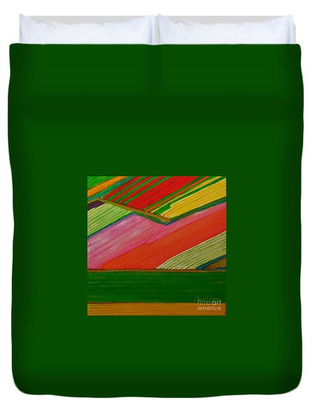 Dutch Tulip Fields Duvet Cover