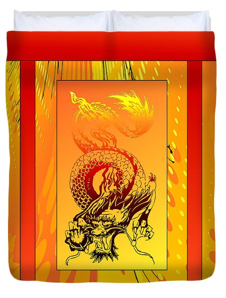 Duvet Cover featuring the photograph Duvet Dragon Fire by Robert Kernodle