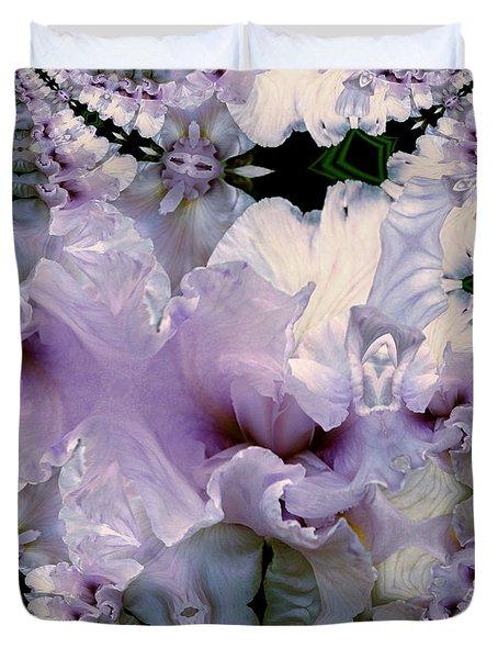Duvet Iris Fractal Duvet Cover by Robert Kernodle